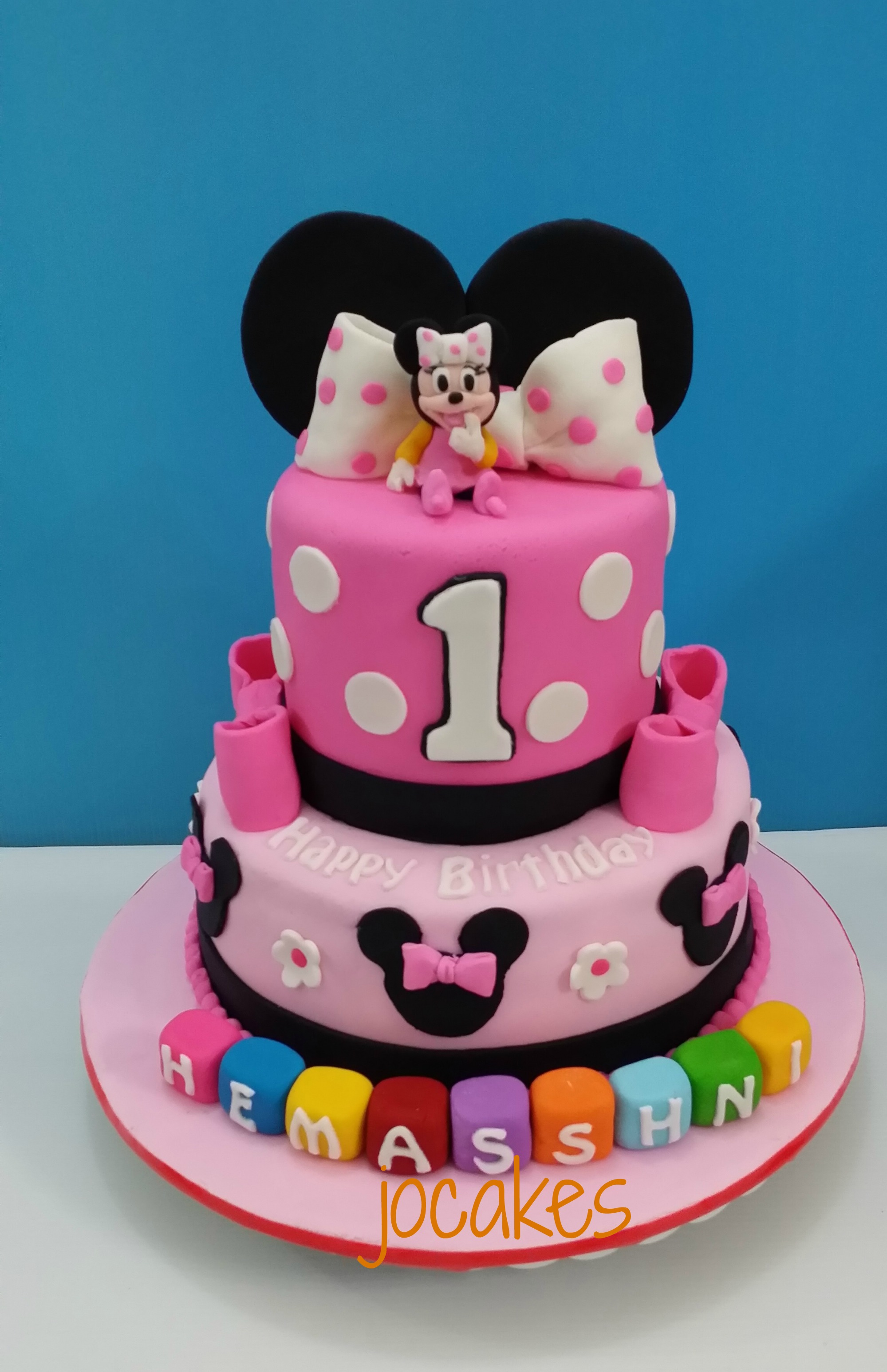 Minnie cake for 1 year old Hemasshni s birthday