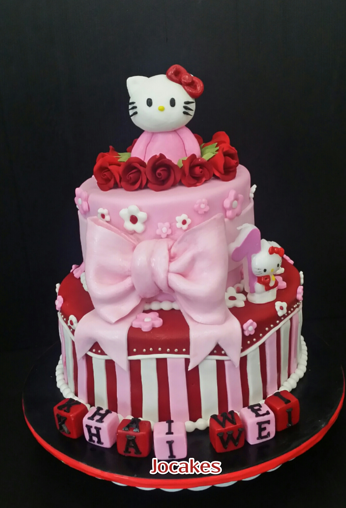 Hello Kitty Cake For Khai Weis 1st Birthday Jocakes